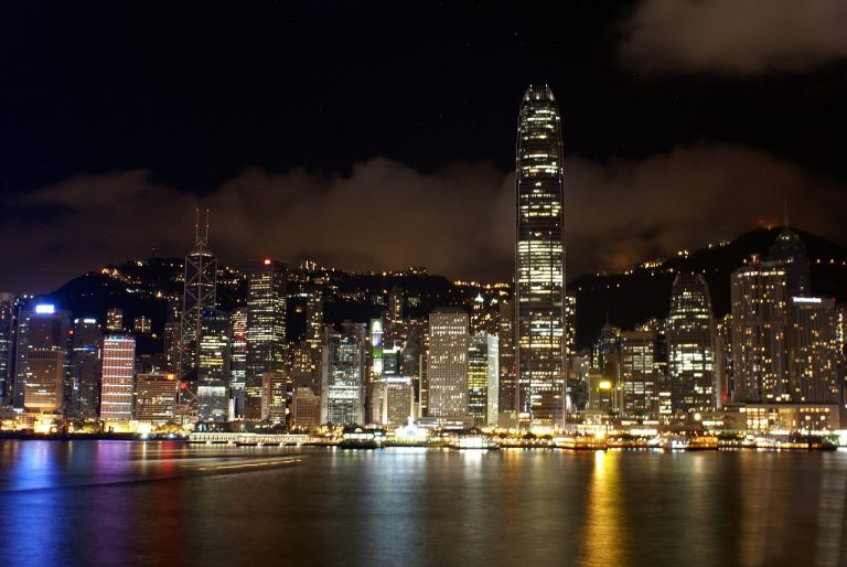 hongkong, view, skyline
