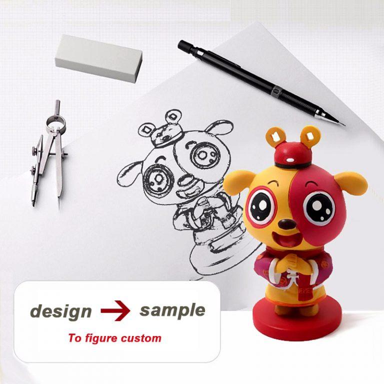 design unique plastic toys, custom collectible figures, oem custom trend toys